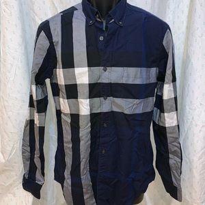 Burberry Brit Men's M blue checkered button up